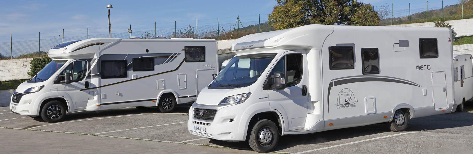 Alquiler y venta de caravanas y autocaravanas, contamos con parking videovigilado 24h